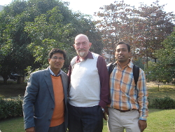 Prof. Kip S Thorne, the Physics Nobel Laureate - 2017 during his visit to the Centre in 2011